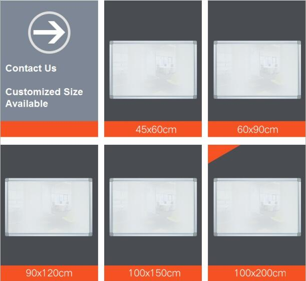 Wholesale Magnetic Glass White Board 80 x 120cm-2