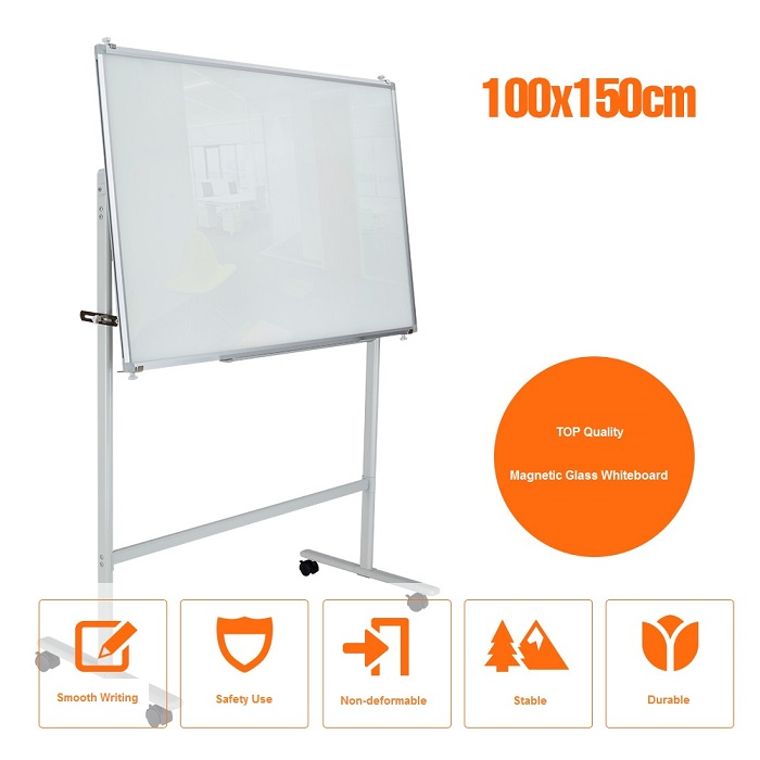 Movable Magnetic Writingboard with Pen 100 x 150cm