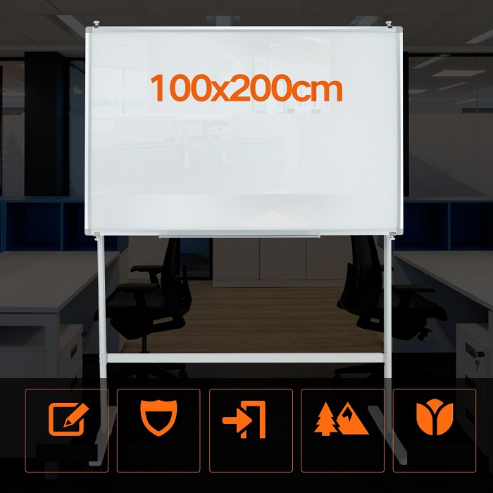 Interative Tempered Glass Notice Board 100 x 200cm