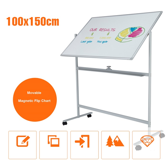 Portable Magnetic Flip Chart with Holder Stand