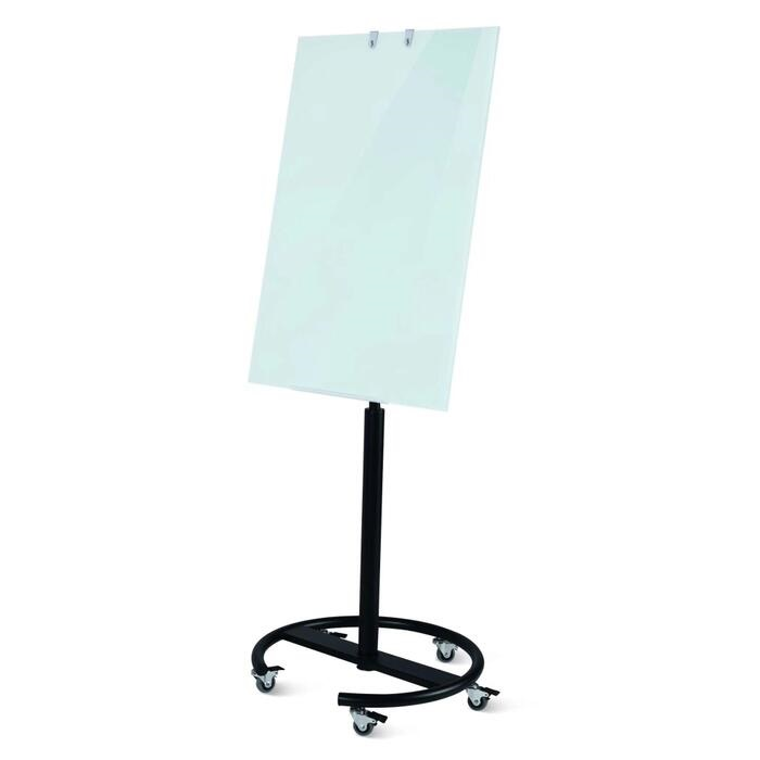 Magnetic Glass Writingboard with Round Base
